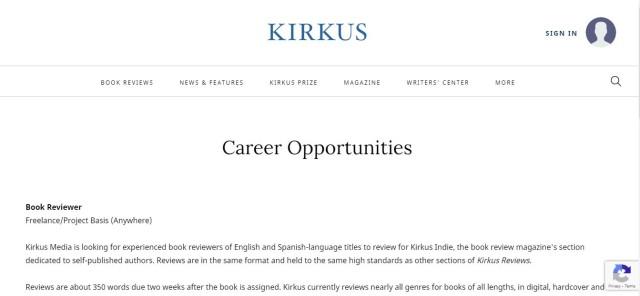 Kirkus Media - Get Paid to Read Books